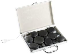Kit de massage ''Hot Stone'' avec mallette chauffante