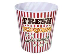 Seau à pop-corn XXL rétro rouge/blanc, hauteur 17,5 cm