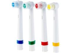 Têtes de rechange pour brosse à dents électrique 4 en 1 Sichler