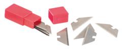 10 lames de rechange pour mini cutter porte-clés pliable NC5117