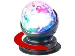 Boule disco rotative 360° à effets lumineux LED RVB 3 W