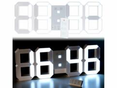 Horloge LED digitale XXXL avec fonction réveil et télécommande