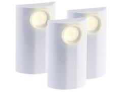 pack de 3 mini lampes led d'exterieur a piles avec surface tactile et variateur
