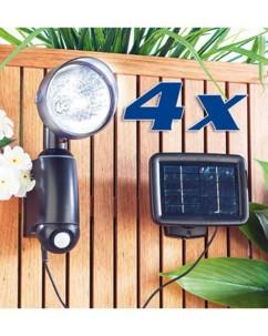 Lampes solaires murales à détecteur de mouvement - Par 4