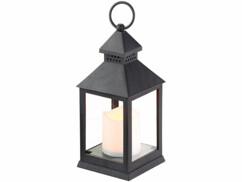 lanterne allumée avec bougie led flamme vacillante lunartec