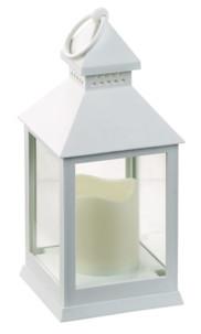 lanterne avec bougie led flamme effet vacillant couleur blanc
