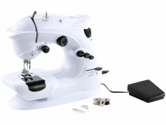 Machine à coudre Sichler compacte avec 7 programmes de couture avec 2 bobines et porte-bobine et aiguilles et enfile-aiguille