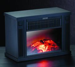 Mini-cheminée électrique 1200 W - noir