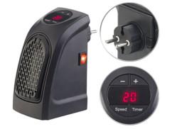 Mini radiateur soufflant sur prise secteur