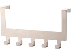 Patère de porte à 5 crochets - pour porte jusqu'à 4,5 cm d'épaisseur