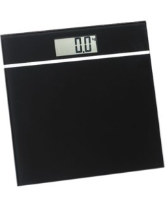 Pèse-personne ultra plat en verre noir