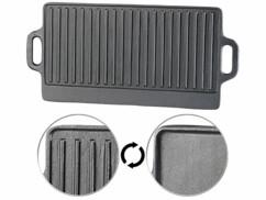 Plaque-gril de cuisson en fonte - 43 x 23,5 cm