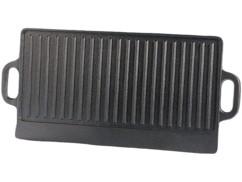 Plaque-gril de cuisson en fonte - 51 x 23,5 cm