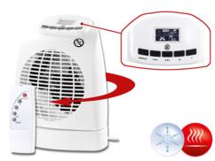 Radiateur soufflant 1000 / 2000 W avec télécommande