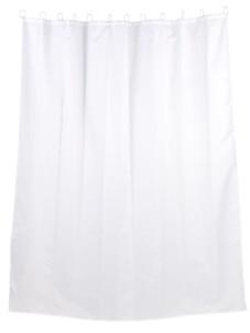 rideau de douche 2 m en tissu lavable motif blanc revetement anto moisissure couleur blanc
