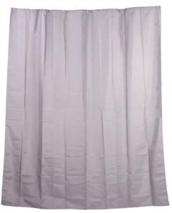 rideau de douche 2 m en tissu lavable motif blanc revetement anto moisissure couleur gris