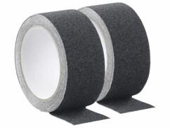2 rubans adhésisf antidérapants et résistants à l'eau - 4 m - Ø 48 mm - Noir