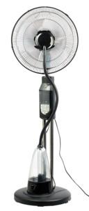 ventilateur sur pied oscillant avec brumisateur intégré et minuteur jusqu'à 7h sichler