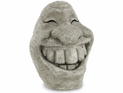 Visage décoratif ''Stone Smiley''