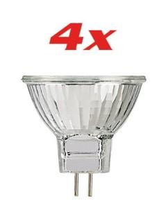 4 Ampoules halogène réflectrice GU4 30° 28 W