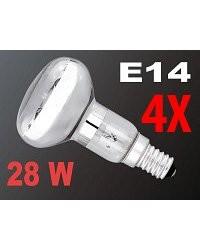 4 Ampoules réflecteur R50  halogène E14 28W