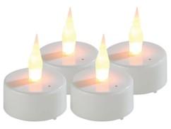 4 Bougies chauffe-plat LED à souffler
