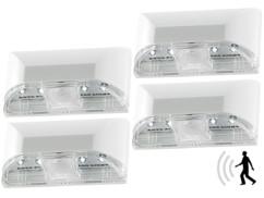 4 éclairages de porte à LED avec capteur Pir