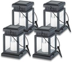 4 Lanternes solaires à LED ''Asia''