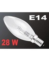 Ampoule bougie halogène E14 28 W