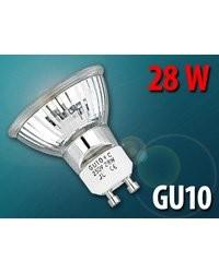 Ampoule halogène réflecteur Gu10 28 W