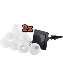 Banderoles de lampions solaires à LED x2