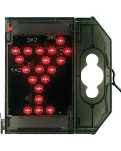 Caractère spécial lumineux à LED - ''Verre cocktail'' rouge