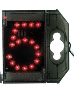 Chiffre lumineux à LED - ''5'' rouge