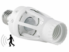 Douille de lampe E27 à détecteur de mouvement