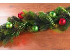 Guirlande décorative en fil métallique à LED vertes