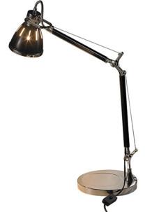 lampe de bureau look retro vintage cuivre avec culot e27 pour toutes ampoules