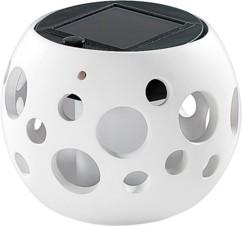 Lanterne LED solaire blanche - modèle ''Bollos''