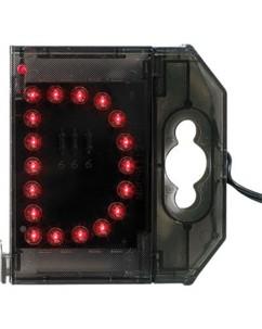 Lettre lumineuse à LED - ''d'' rouge