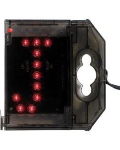 Lettre lumineuse à LED - ''J'' rouge