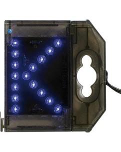 Lettre lumineuse à LED - ''K'' bleu