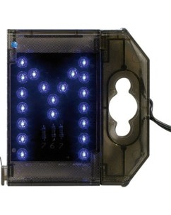 Lettre lumineuse à LED - ''M'' bleu