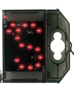 Lettre lumineuse à LED - ''S apostrophe'' rouge