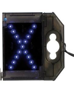Lettre lumineuse à LED - ''X'' bleu