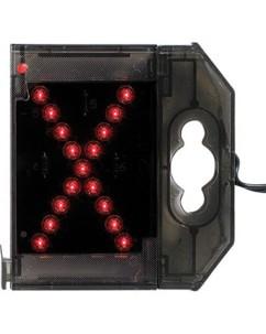 Lettre lumineuse à LED - ''X'' rouge