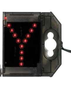 Lettre lumineuse à LED - ''Y'' rouge