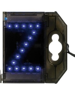 Lettre lumineuse à LED - ''Z'' bleu