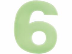 Numéro de maison phosphorescent - ''6''