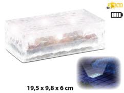 Pavé lumineux à LED solaire - 19,5 X 9,8 X 6 cm