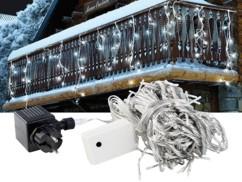 Rideau de lumière ''Snow'' - blanc froid