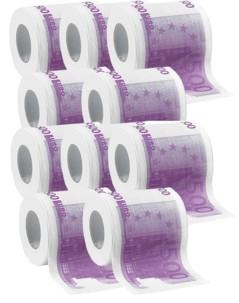 """10 rouleaux de papier toilette ''500 €"""""""